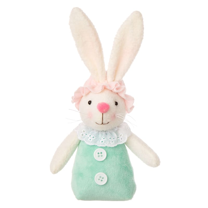 6IN SMALL CLASSIC GREEN BUNNY