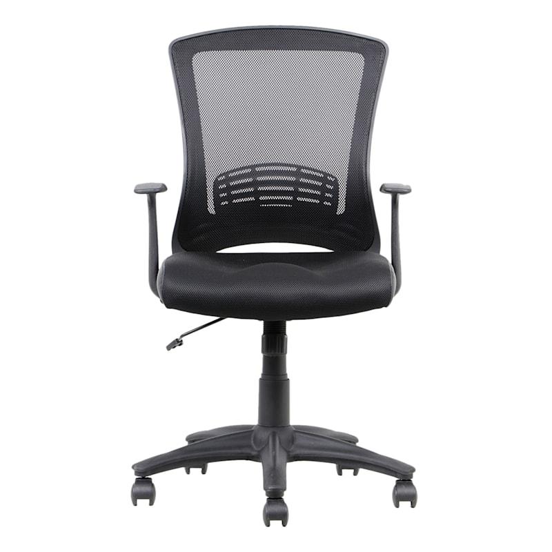 Enzo Black Adjustable Office Chair