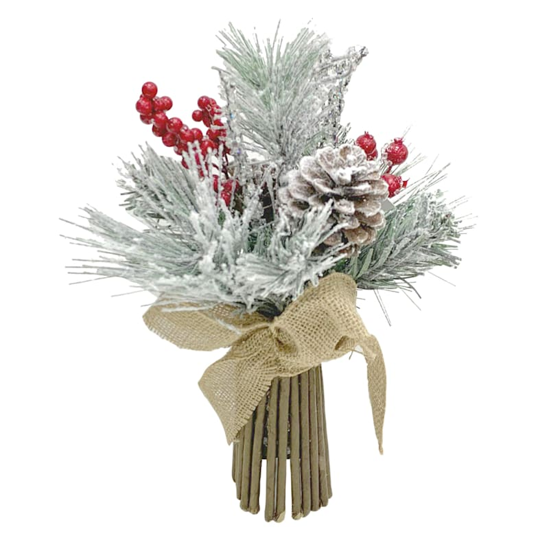 RED BERRY/FLOCKED MIXED PINE S