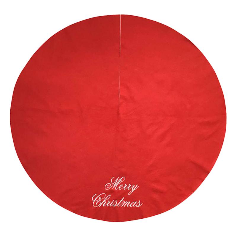 "Merry Christmas Tree Skirt, 48"""