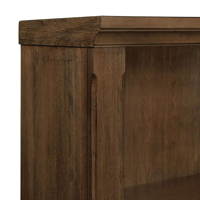 Catania 4-Tier Brown Wood & Wood Veneer Bookshelf