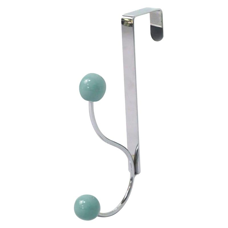Jasmine Chrome/Blue Wire Overdoor Hook