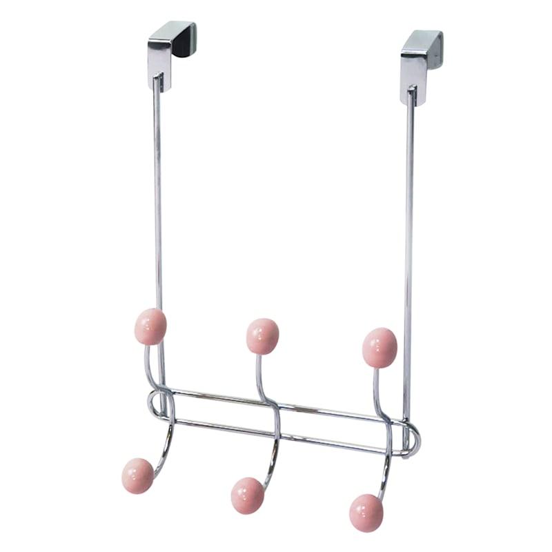 Jasmine Chrome/Pink Wire Overdoor Hook