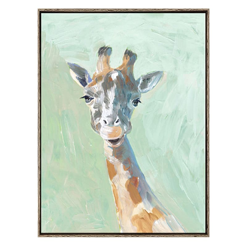 37X49 GIRAFFE FRAMED CANVAS