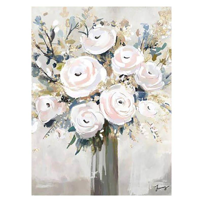 Blush Bouquet Canvas Wall Art