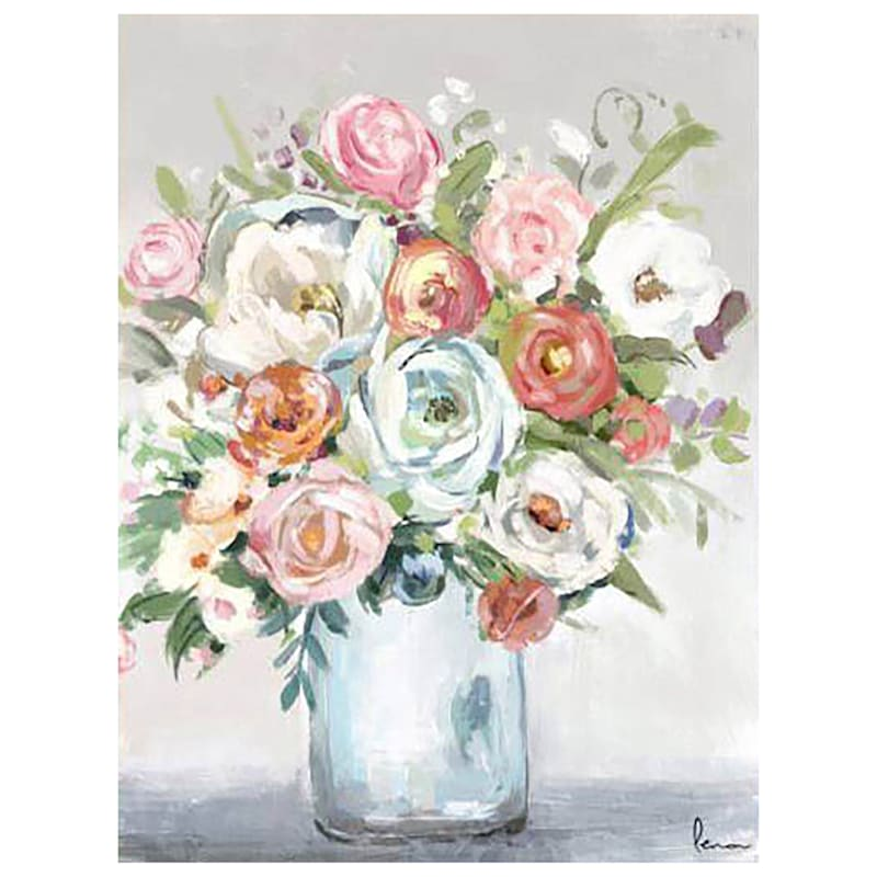 22X28 SPRING ROSES CANVAS