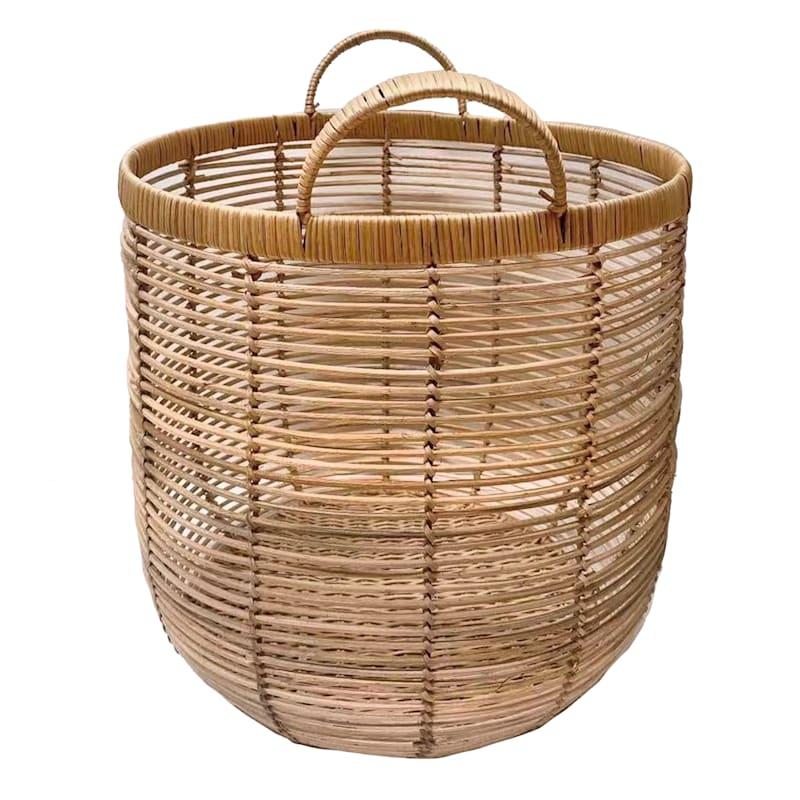 Tracey Boyd Round Rattan Basket