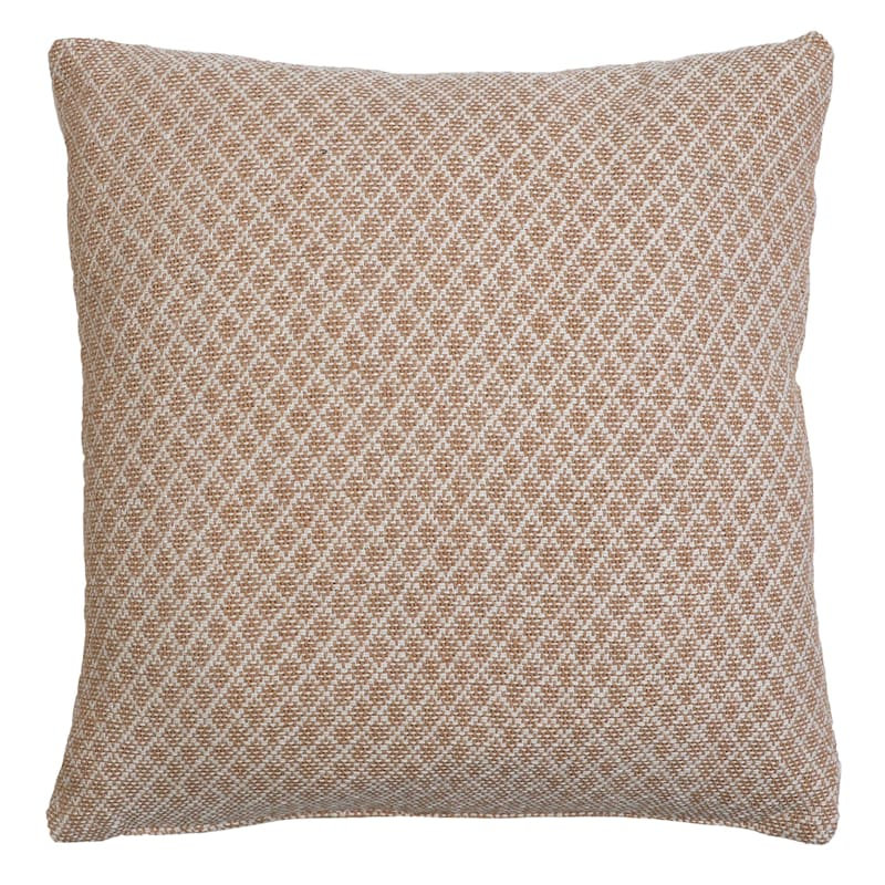 Kalen Brown Woven Diamond Pillow 18in.