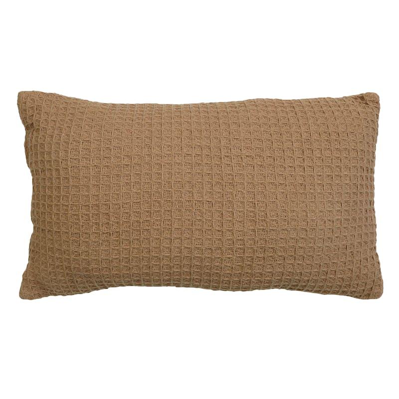 Dario Brown Waffle Pillow 12X20