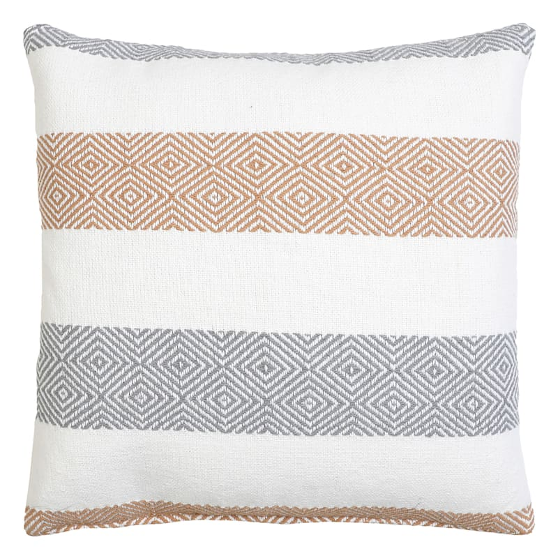 Ariel Woven Stripe Pillow 18in.