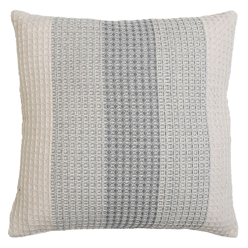 Rehan Grey Waffle Milange Pillow 18in.