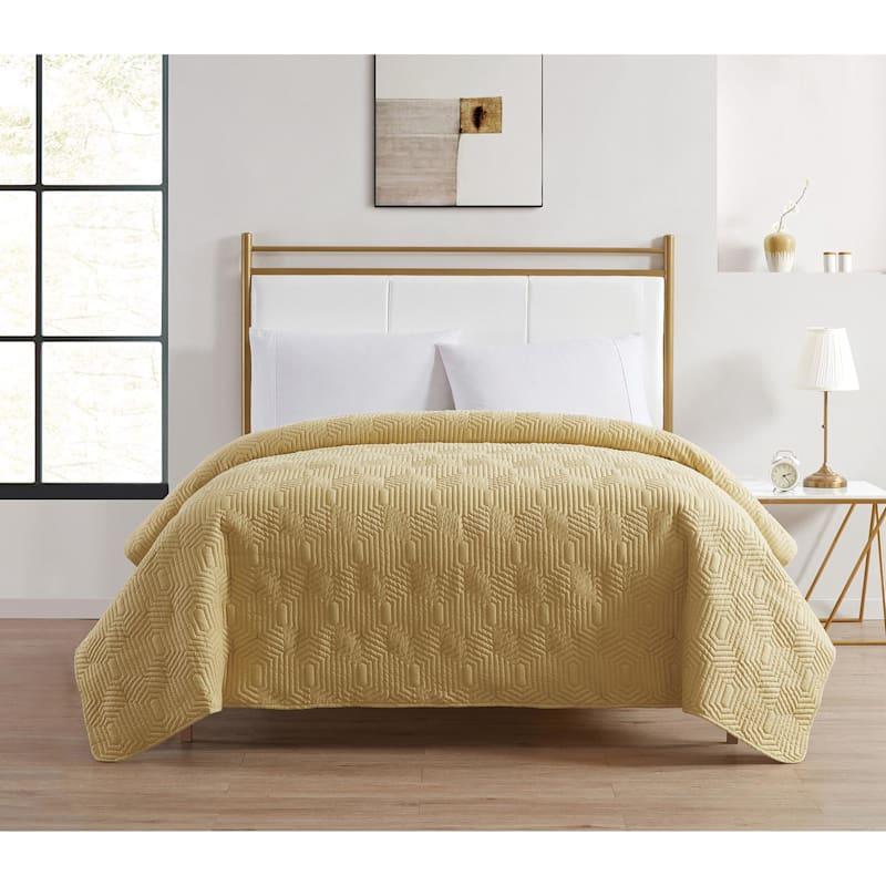 Veja Yellow Pinsonic Quilt Full/Queen