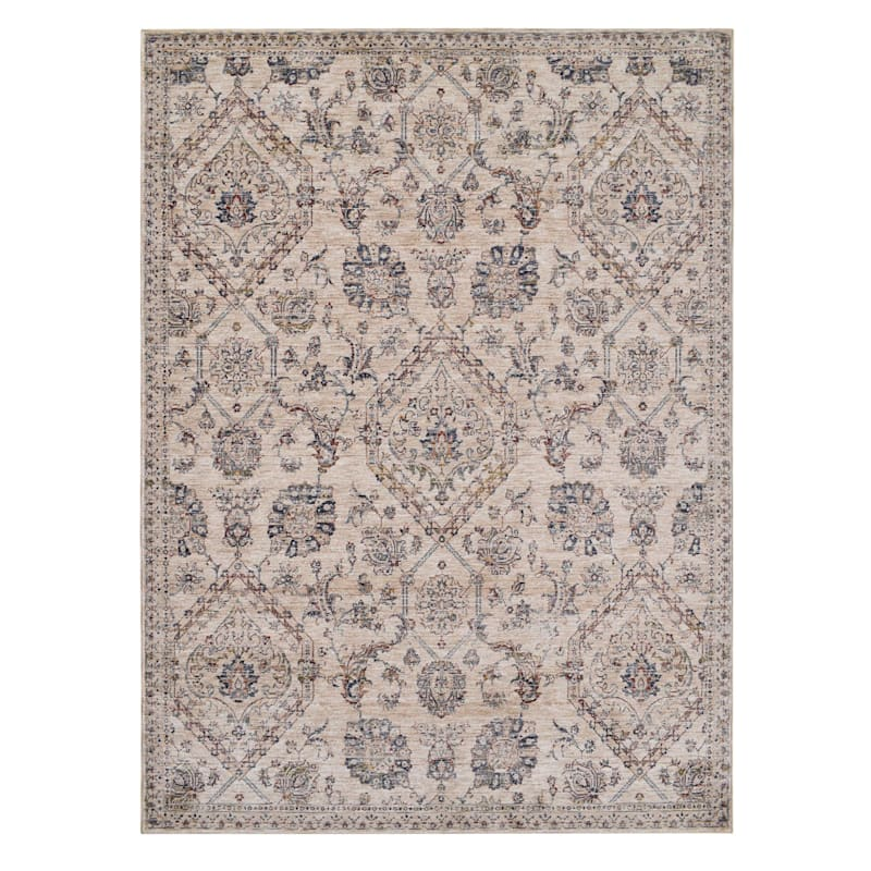 B655 Ivory Beige Traditional Soft Antique Design Rug 8x10 At Home