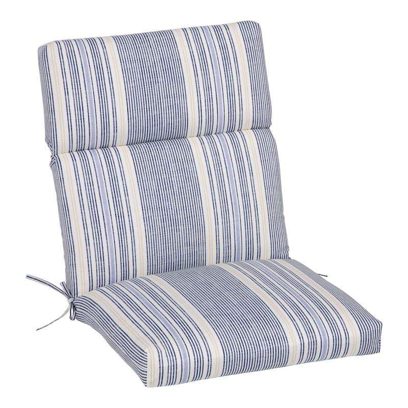 Calisto Stripe Outdoor Hinged Chair Cushion