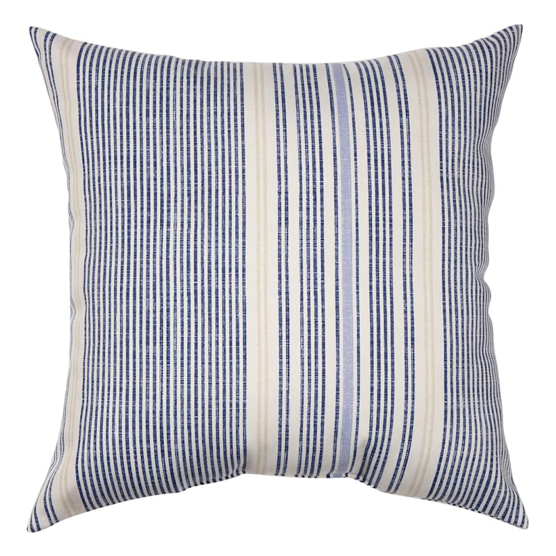Calisto Stripe Outdoor  Square Pillow, 16""