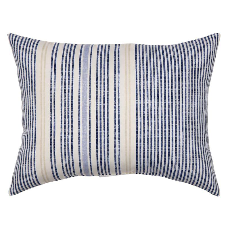 Calisto Stripe Outdoor Oblong Pillow, 12x16