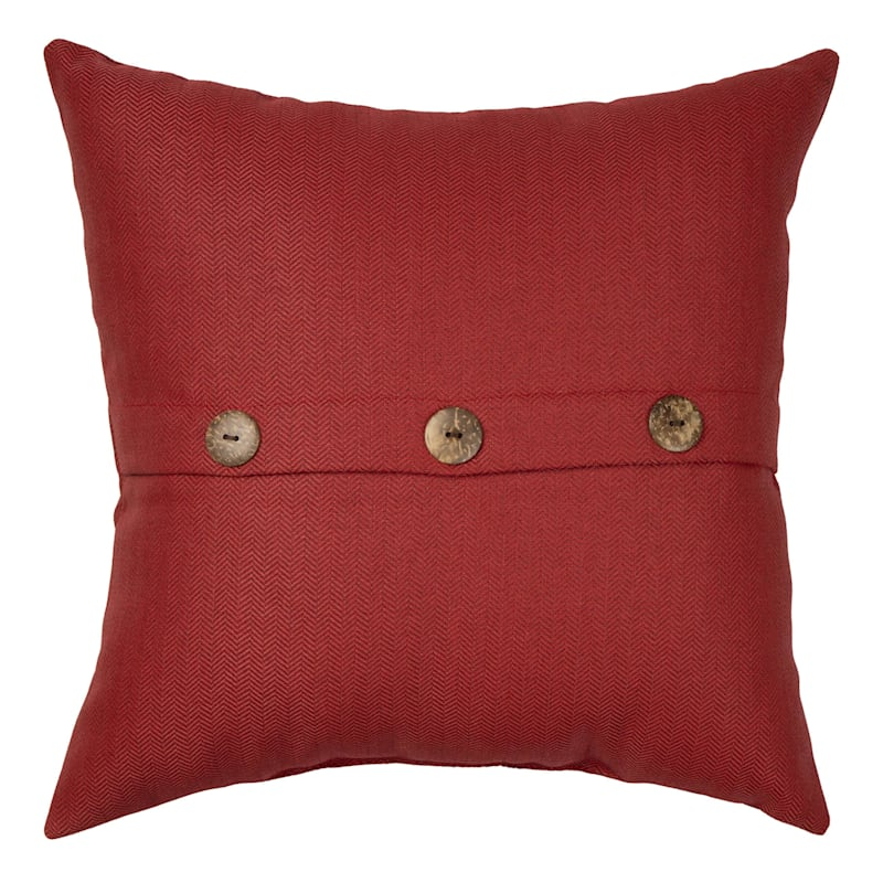 Tristin Cherry Outdoor Premium 18in. Square Button Pillow