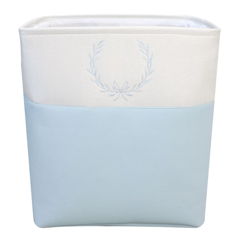 Med Rectangular Fabric Storage Bin Light Blue