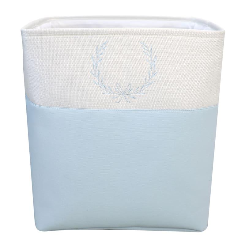Small Rectangular Fabric Storage Bin Light Blue