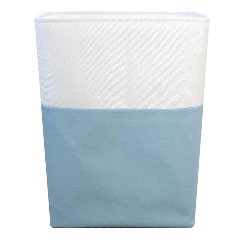 Tall Fabric Hamper Dark Blue