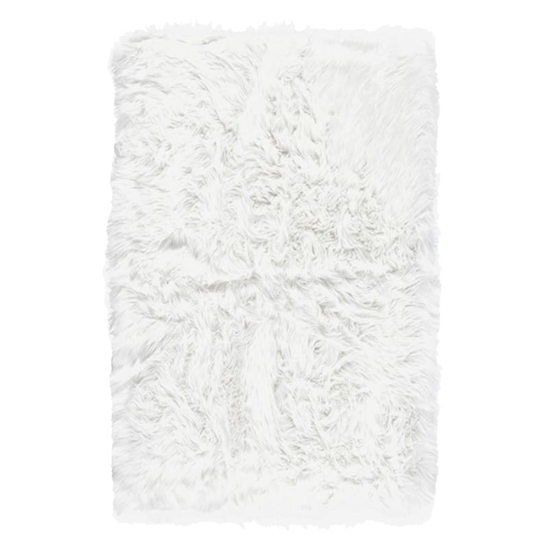 FAUX FUR WHITE 30X47
