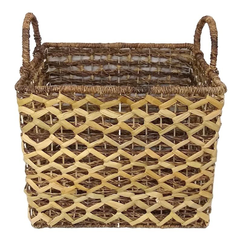 Rectangular Madras Basket Diamond Weave Medium