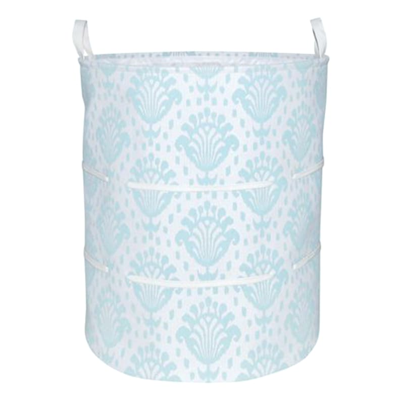 Blue Design Canvas Hamper M