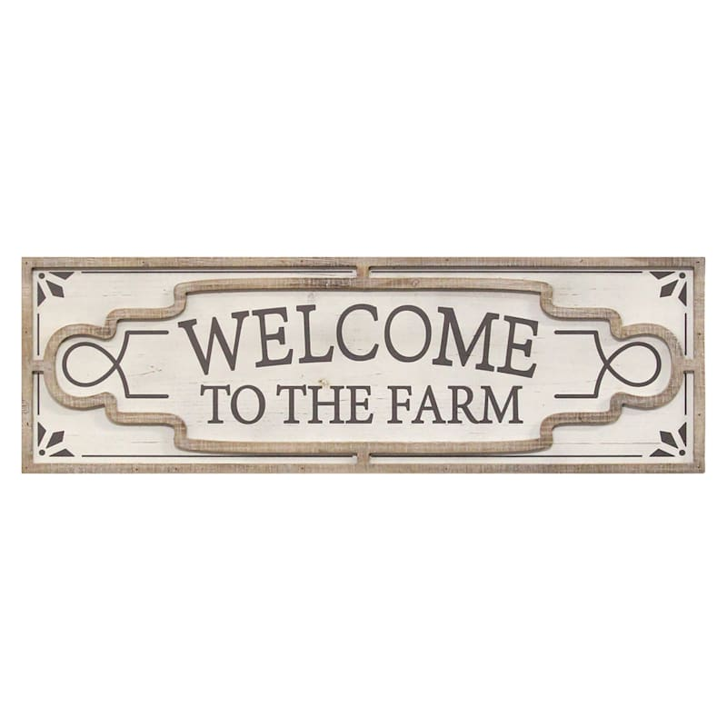 30X10 WELCOME SIGN