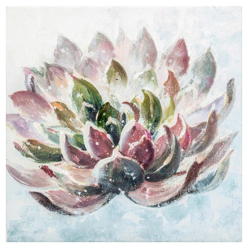 12X12 Succulent Canvas Art