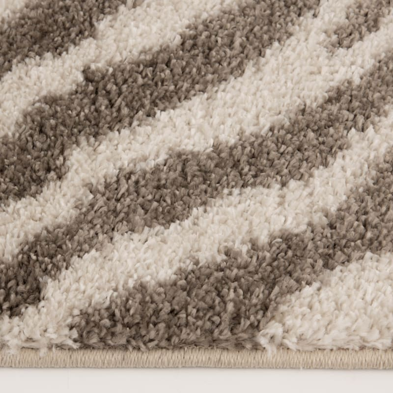 (C160) Sylar Zebra Brown & Ivory Woven Area Rug, 5x7