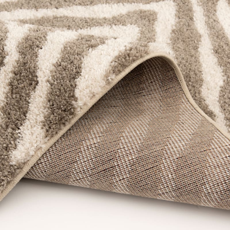 (C160) Sylar Zebra Brown & Ivory Woven Area Rug, 7x10
