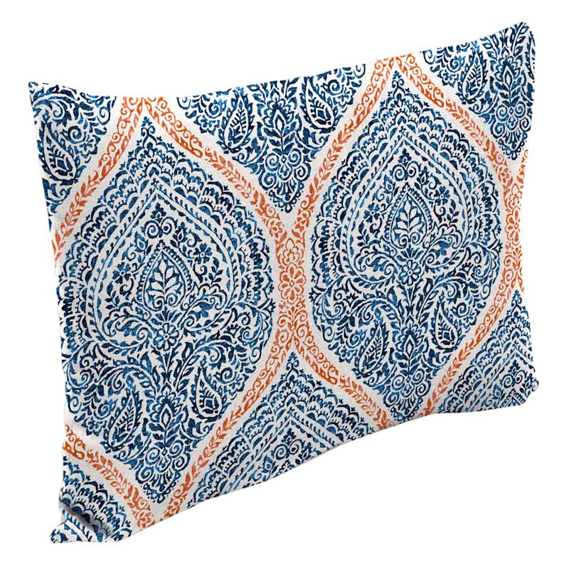 Andorra Tigerlily Outdoor Oblong Pillow, 12x16