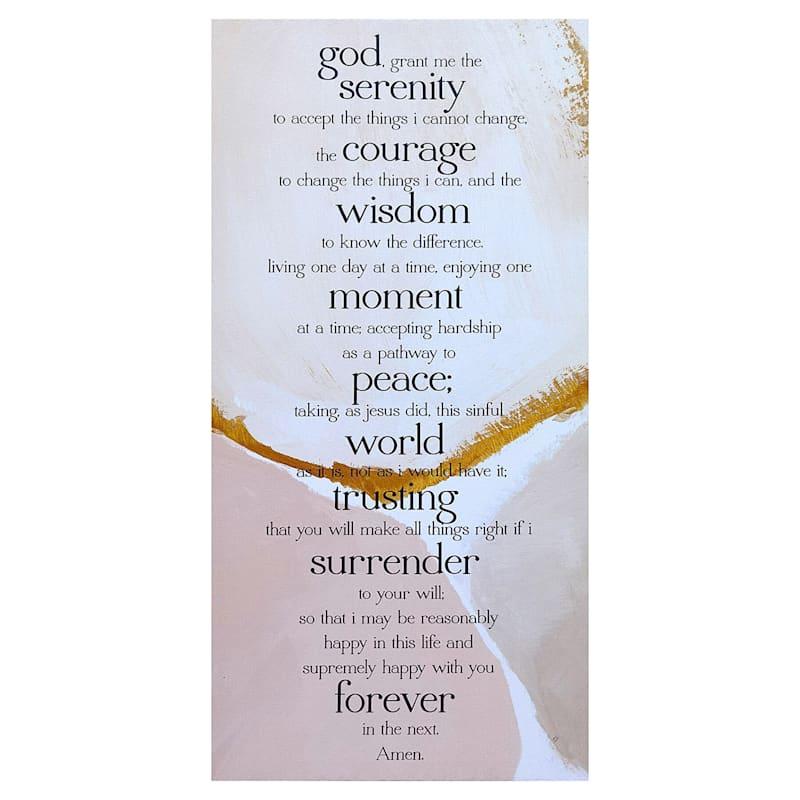 12X24 Serenity Prayer Canvas Art