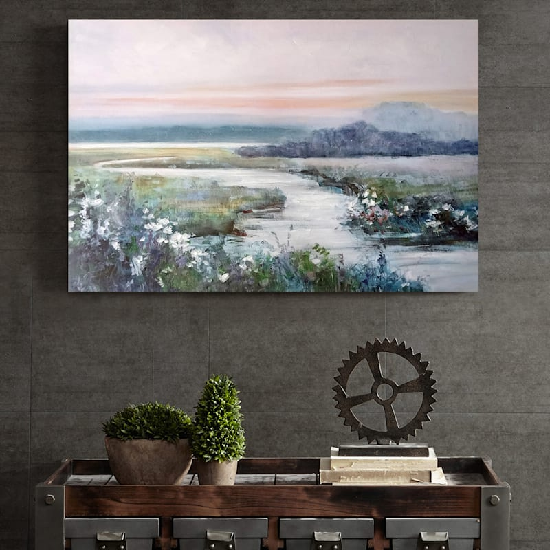 36X24 Eternity In Twilight Embellished Canvas Art
