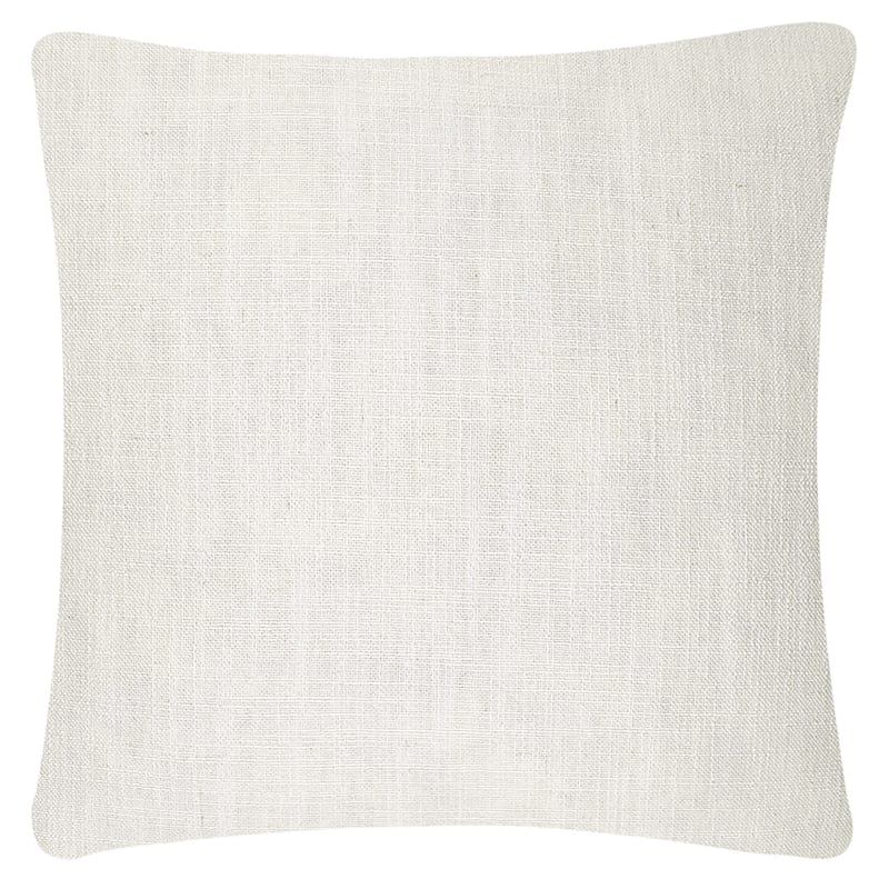 White Layered Linen Pillow 18X18