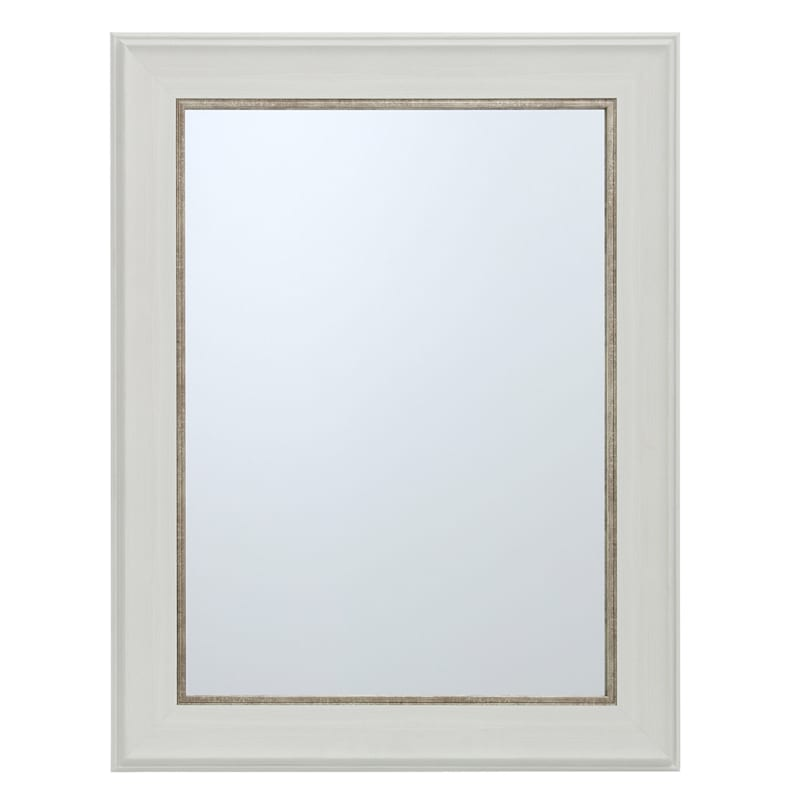 22X28 White With Gold Framed Mirror