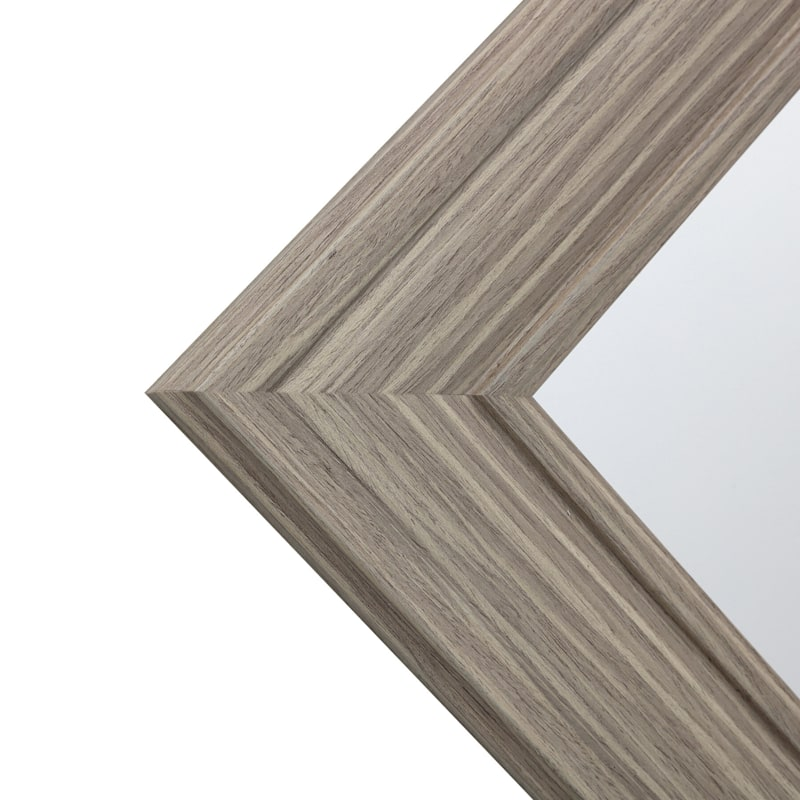 22X28 Rectangle Tan Framed Mirror