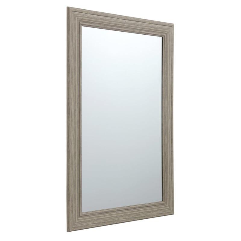 24X36 Rectangle Tan Framed Mirror