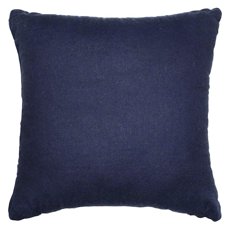 Tracey Boyd Blue Applique Diamond Pillow 18X18