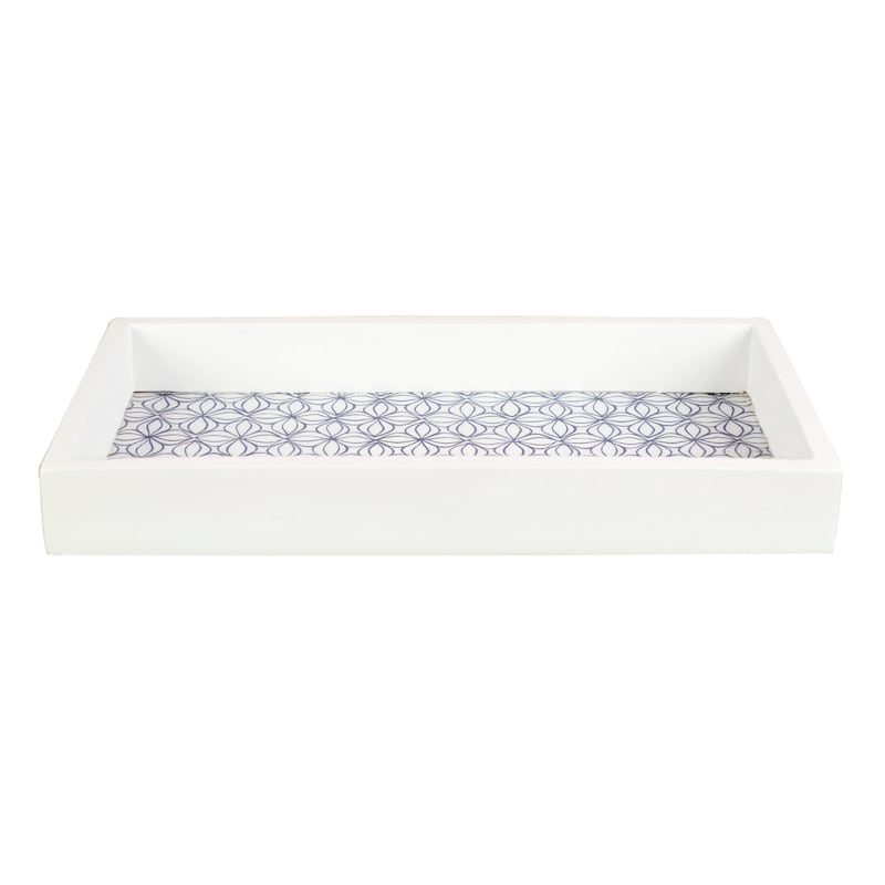 Tracey Boyd 12X6 Blue White Pattern Tray