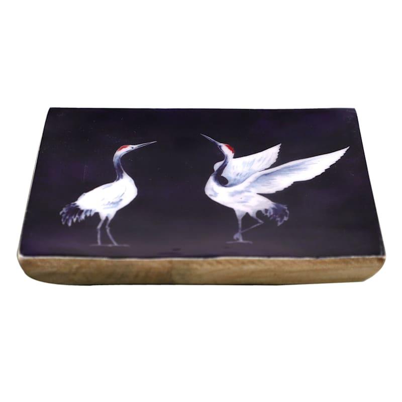 Tracey Boyd 5X5 Blue White Wood Trinket Tray