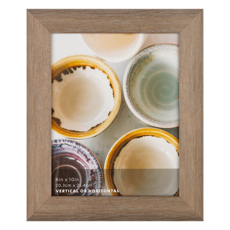 8X10 Metallic Brown Wash Scoop Profile Tabletop Photo Frame