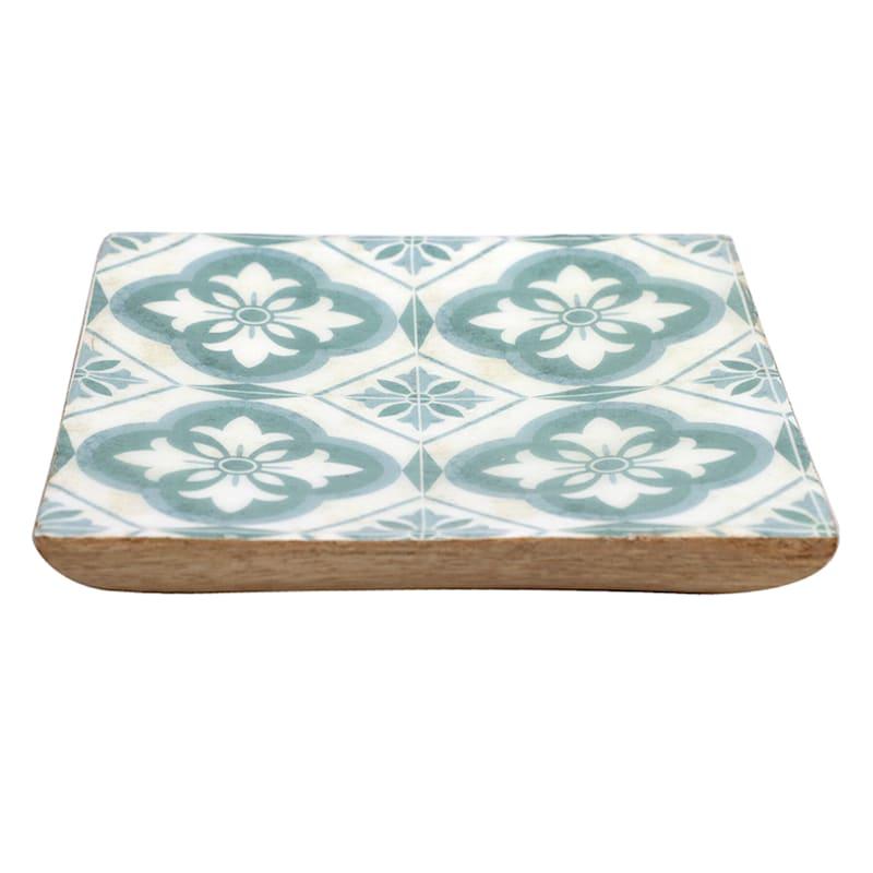 5X5 Green Wood Trinket Tray