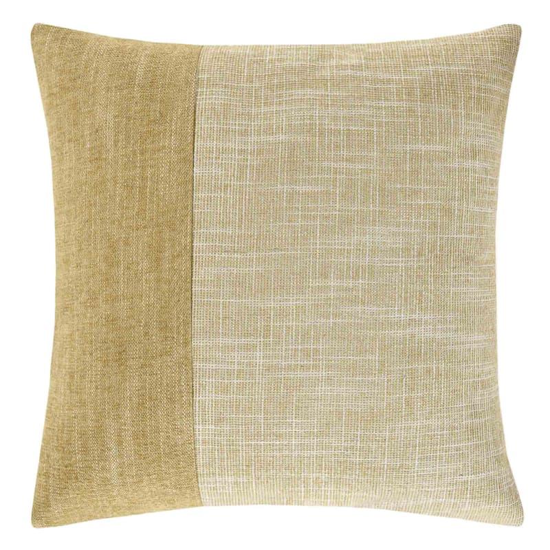 Venezia Gold Textured Faux Suede Pillow 18X18