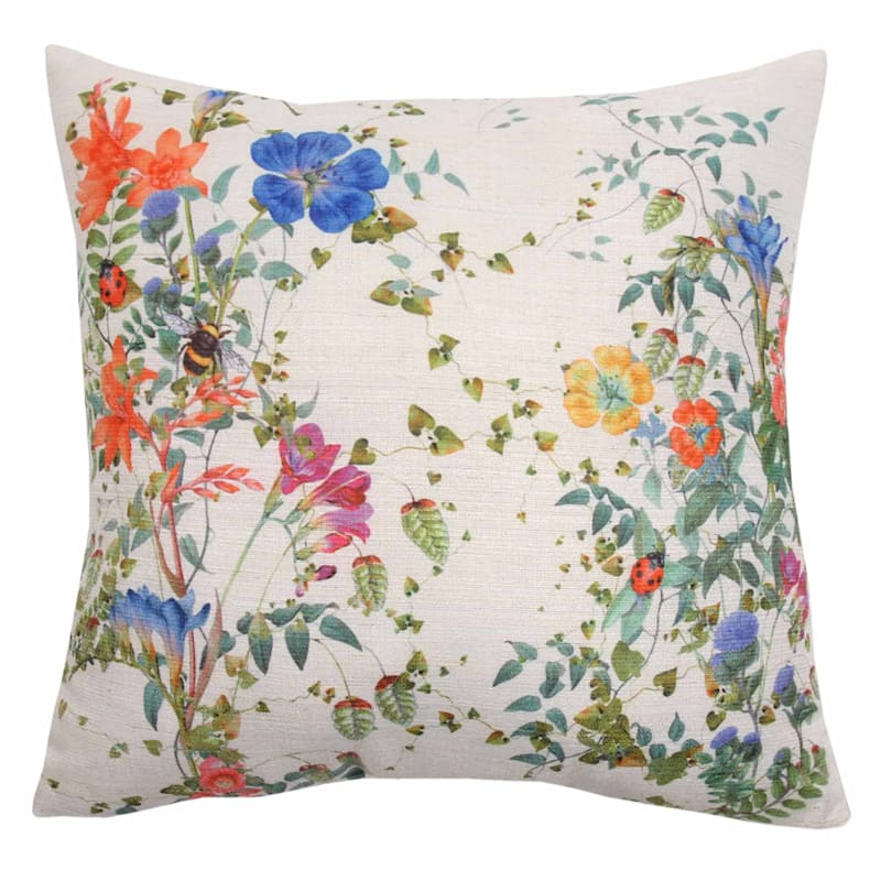 Grace Mitchell Floral Printed Throw Pillow, 18""