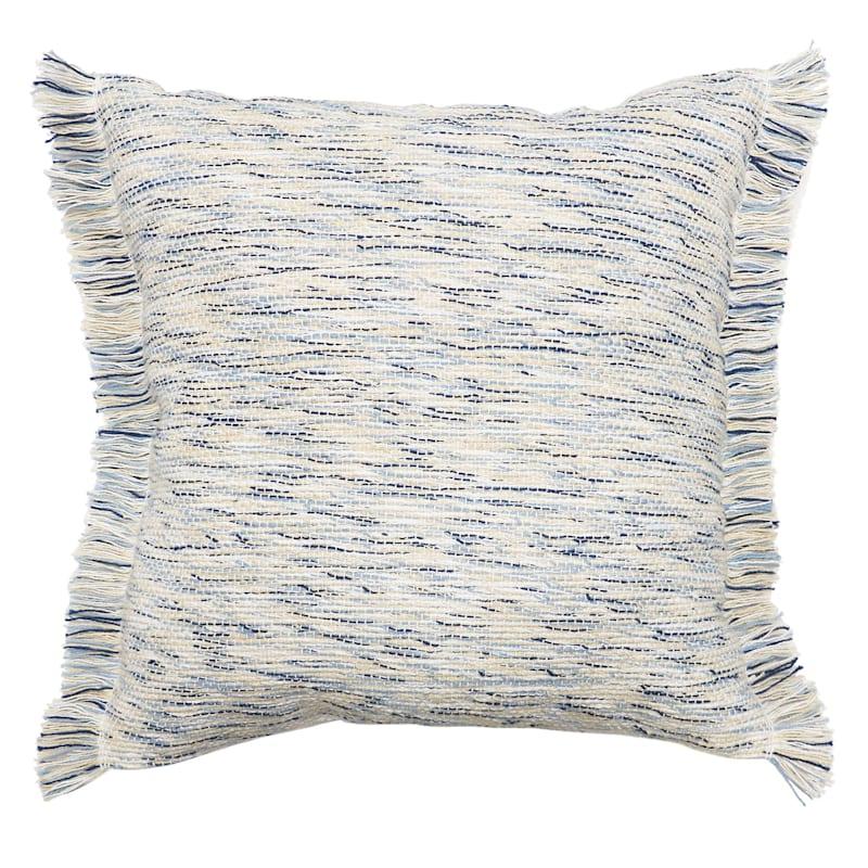 Tracey Boyd Blue Cotton Brella Stripe Pillow 18X18
