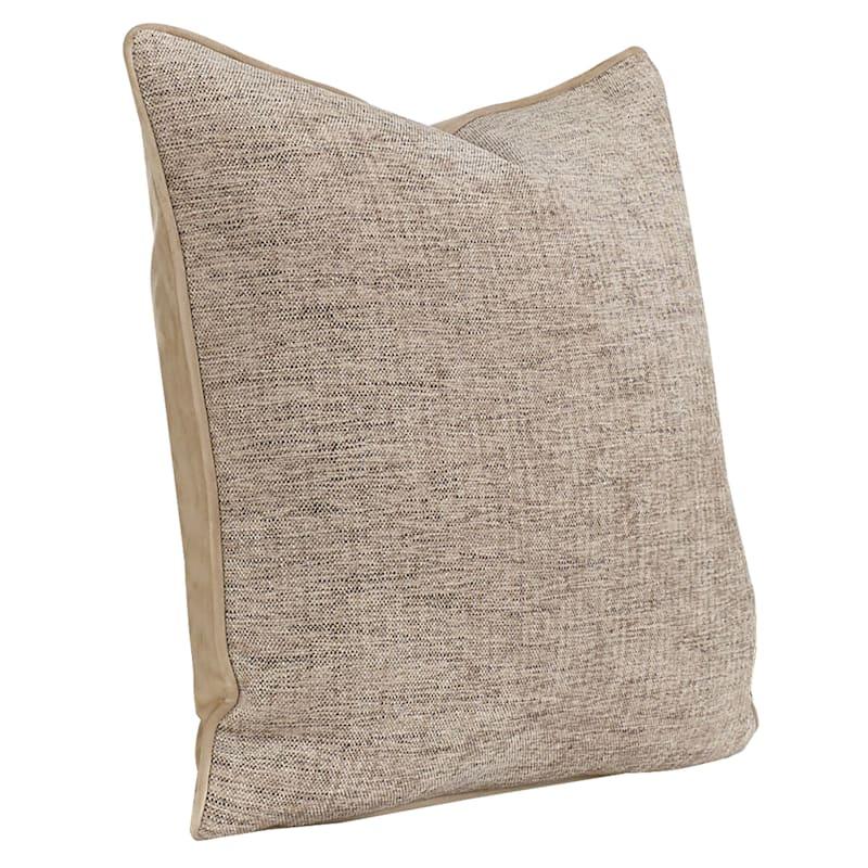 "Grace Brown Pillow, 20"" x 20"""