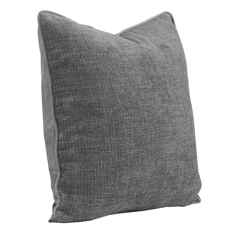 20IN GRACE PILLOW CHARCOAL