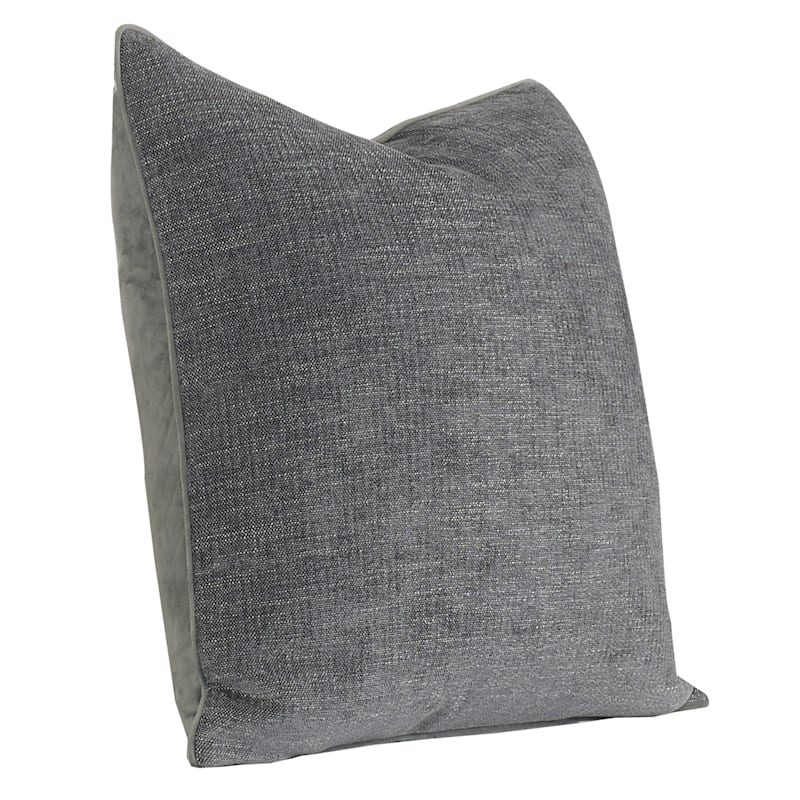 24IN GRACE PILLOW CHARCOAL