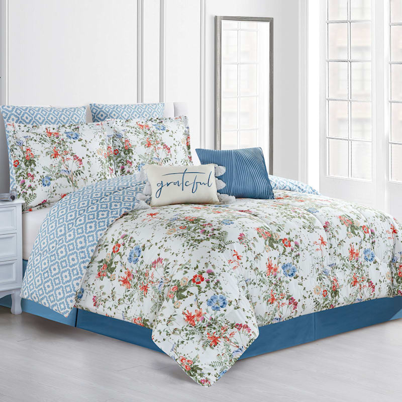 Grace Mitchell 8-Piece Reversible Comforter Set, Queen